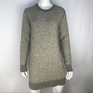 Zara Knit Grey Speckle Mini Sweater Dress